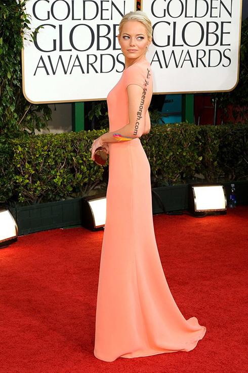 مدل لباس اما استون Emma Stone روی فرش قرمز - عکس شماره 11