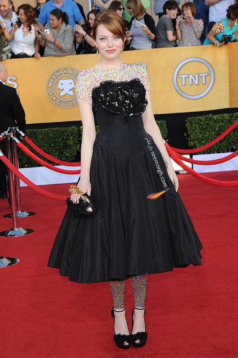 مدل لباس اما استون Emma Stone روی فرش قرمز - عکس شماره 3