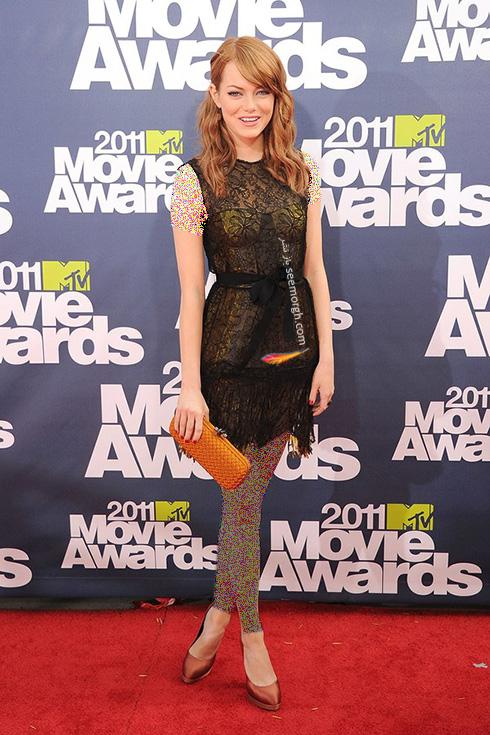 مدل لباس اما استون Emma Stone روی فرش قرمز - عکس شماره 4