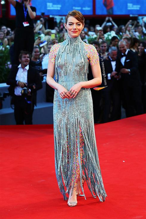 مدل لباس اما استون Emma Stone روی فرش قرمز - عکس شماره 5
