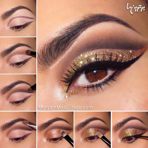 آرایش چشم مخصوص میهمانی - مدل شماره 6