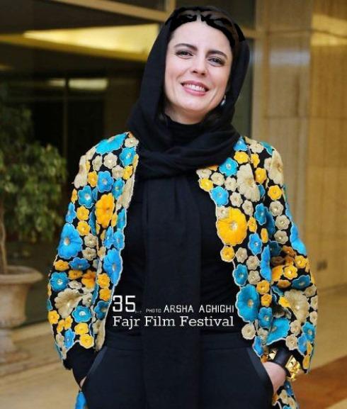 مدل مانتو لیلا حاتمی در جشنواره فجر 35 - عکس شماره 1