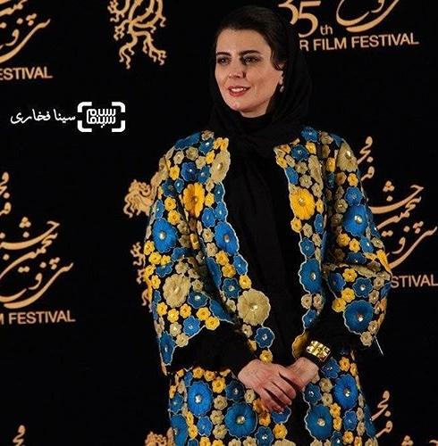 مدل مانتو لیلا حاتمی در جشنواره فجر 35 - عکس شماره 4