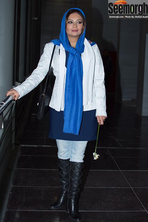 مدل مانتو یکتا ناصر در دومین روز جشنواره فجر 35