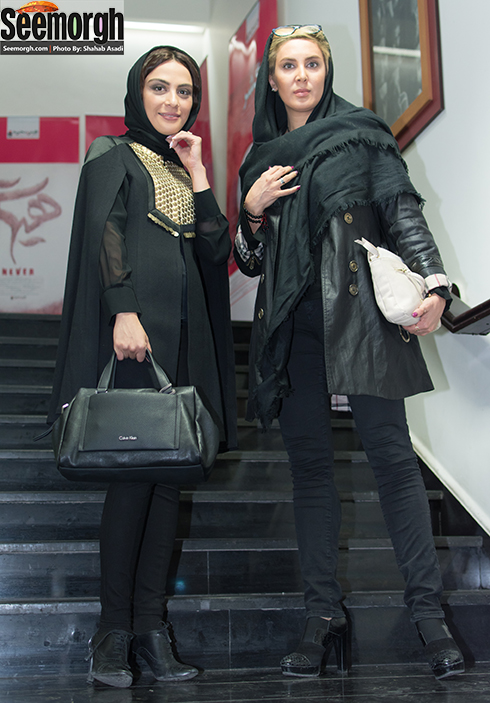 مارال فرجاد و لیلا بلوکات در اکران فیلم جاودانگی