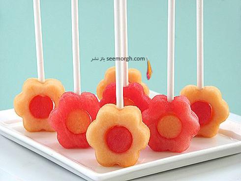 تزیین میوه شب یلدا با سیخ های چوبی - مدل شماره 8