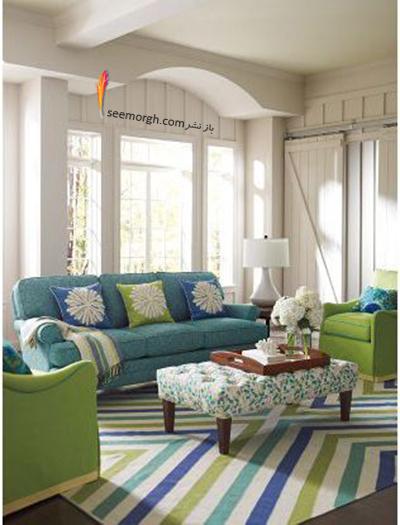 انتخاب رنگ مبلمان بر اساس رنگ های موجود در فرش - عکس شماره 1