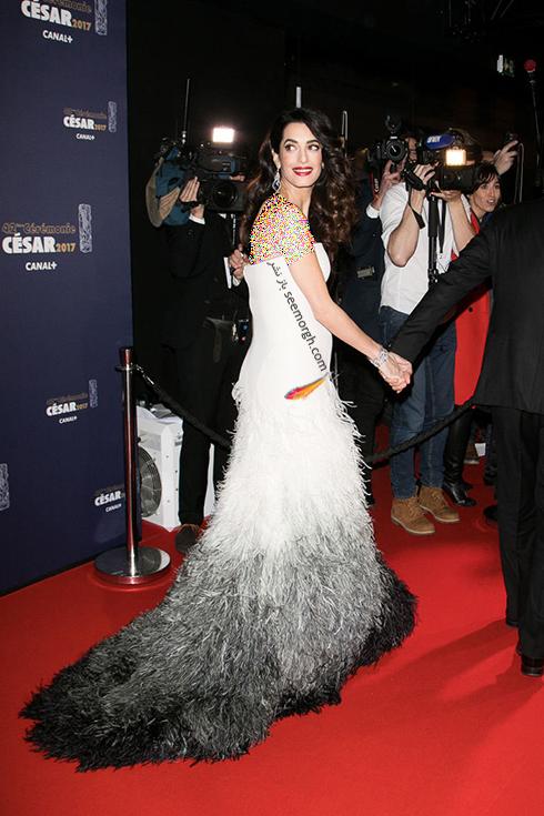 مدل لباس بارداری امل کلونی Amal Clooney روی فرش قرمز - عکس شماره 2