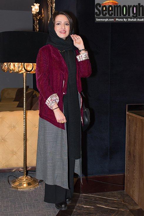 مدل مانتو گلاره عباسی در اکران فیلم نفس
