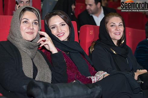 گلاره عباسی و ستاره و لاله اسکندری در اکران فیلم نفس