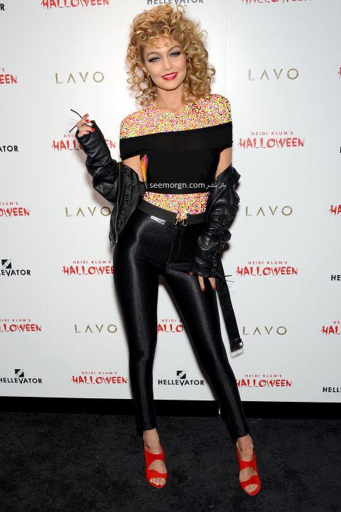 مدل لباس جی جی حدید Gigi Hadid در جشن هالووین 2015