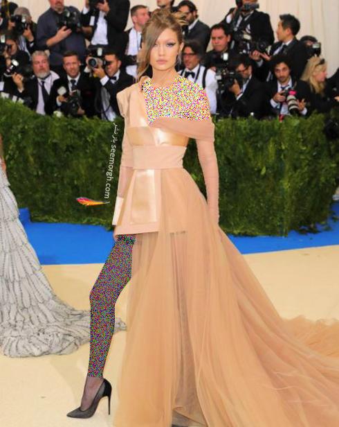 مدل لباس جی جی حدید Gigi Hadid در مراسم مت گالا Met Gala 2017