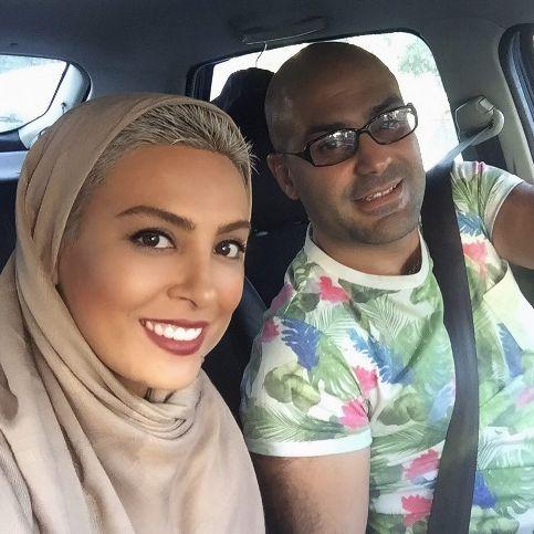 حدیثه تهرانی در کنار همسرش
