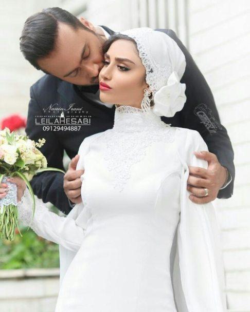 هانیه غلامی و همسرش