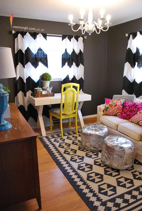 دیوار اتاق کارتان را مانند اتاق خواب تان ساده تزیین کنید