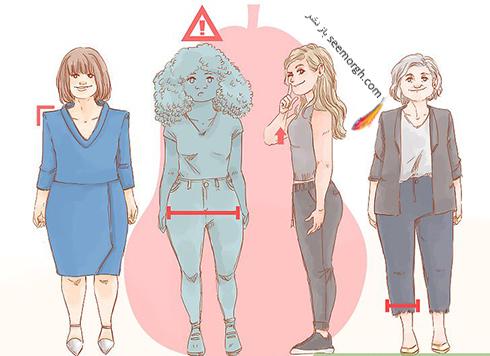 مشخصات اندام گلابی شکل ( قاشقی یا مثلثی رویه بالا )