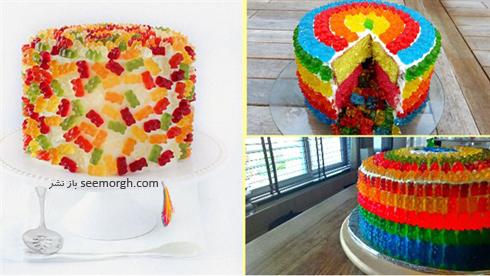 کیک,تزیین کیک,مدل های تزیین کیک,تزیین کیک با شکلات های پاستیل