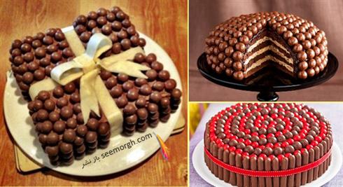 تزیین کیک با شکلات های فندقی,کیک,تزیین کیک,مدل های تزیین کیک,