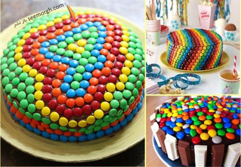 تزیین کیک با اسمارتیز,کیک,تزیین کیک,مدل های تزیین کیک,