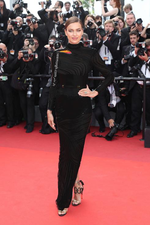 مدل لباس ایرنیا شایک Irina Shayk در هفتمین روز جشنواره کن 2017 Cannes