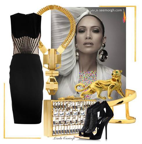 ست کردن لباس شب به سبک جنیفر لوپز Jennifer Lopez - عکس شماره 3