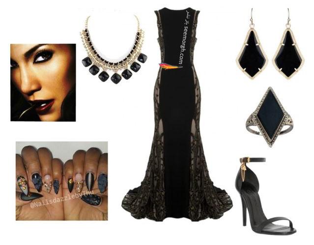 ست کردن لباس شب به سبک جنیفر لوپز Jennifer Lopez - عکس شماره 8