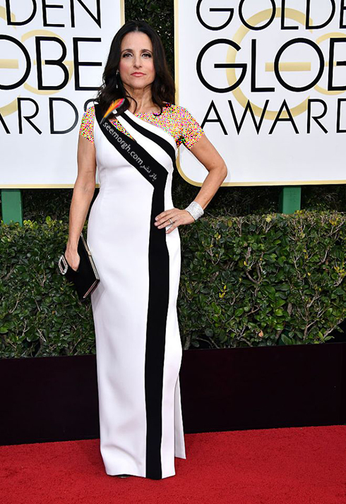 مدل لباس جولیا لوئیس Julia Louis در مراسم گلدن گلوب 2017
