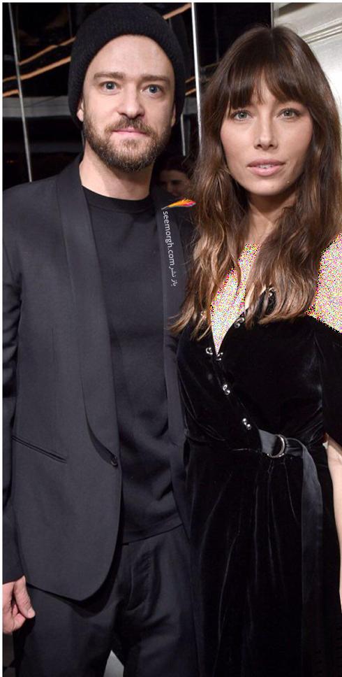 مدل لباس جسیکا بیل و همسرش Jessica Biel جاستین تیمبرلیک Justin Timberlake در میهمانی قبل از مراسم گلدن گلوب Golden Globe 2017
