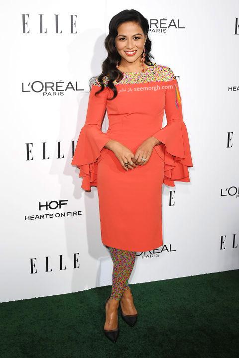 مدل لباس کارن دیوید Karen David در میهمانی مجله ال Elle
