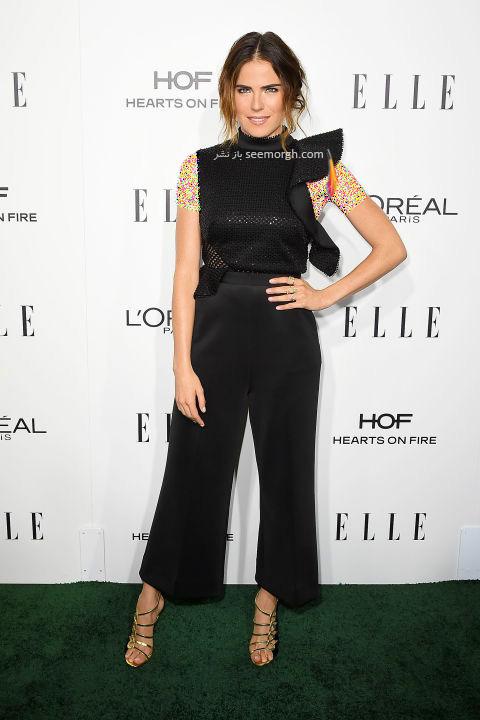 مدل لباس کارلا سوزا Karla Souza در میهمانی مجله ال Elle