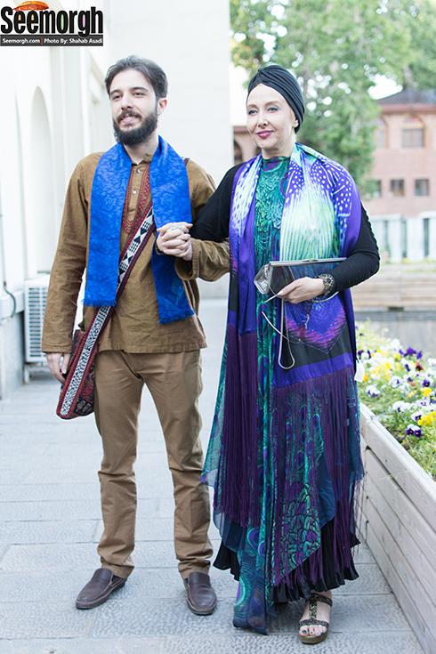 کتایون ریاحی و پسرش در مراسم رونمایی فیلمنامه کوروش کبیر