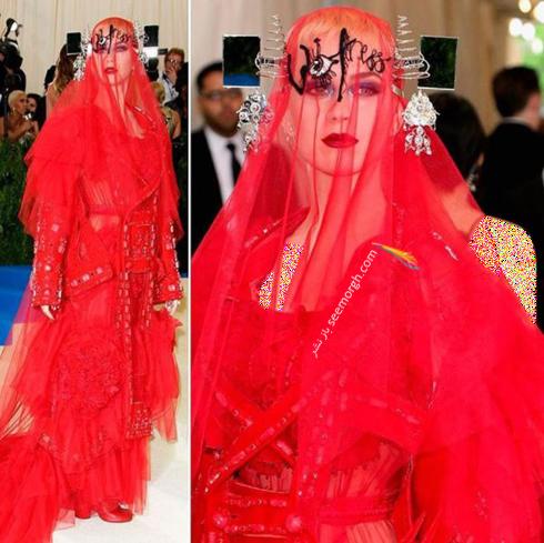 مدل لباس کیتی پری Katy Perry در مراسم مت گالا Met Gala 2017