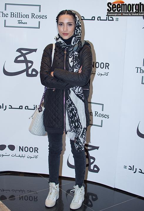 مدل مانتو خاطره اسدی در مراسم اکران فیلم ماحی