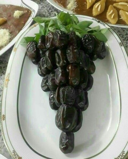 تزیین خرما به شکل انگور