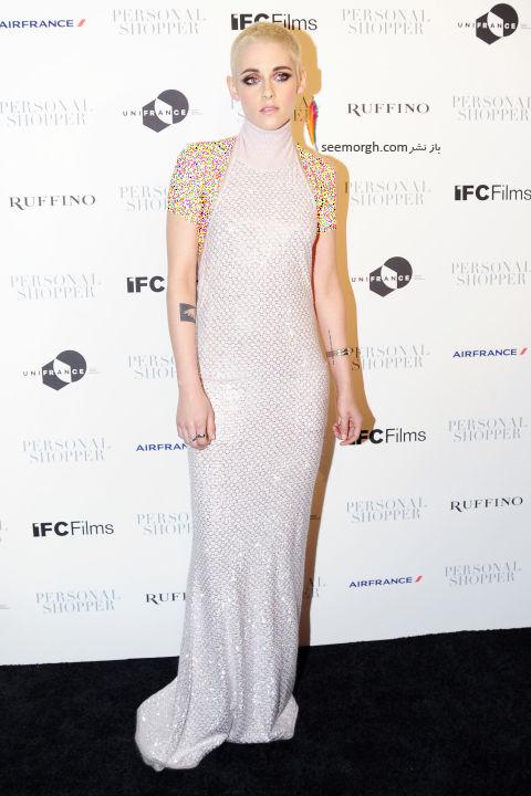 مدل لباس کریستین استوارت Kristen Stewart در هفته مد نیویورک