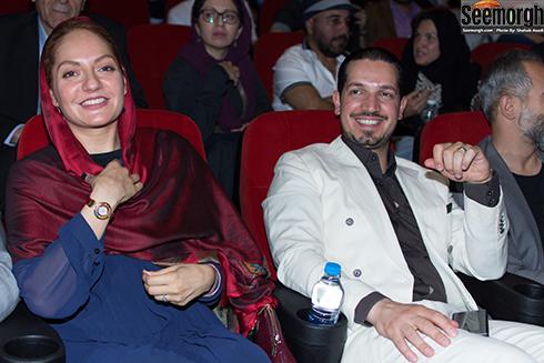 مهناز افشار و همسرش در افتتاح پردیس مگامال