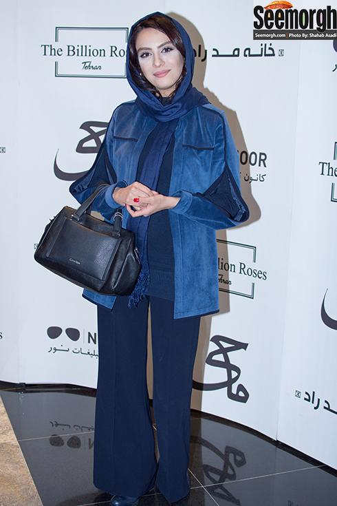 مدل مانتو مارال فرجاد در مراسم اکران فیلم ماحی