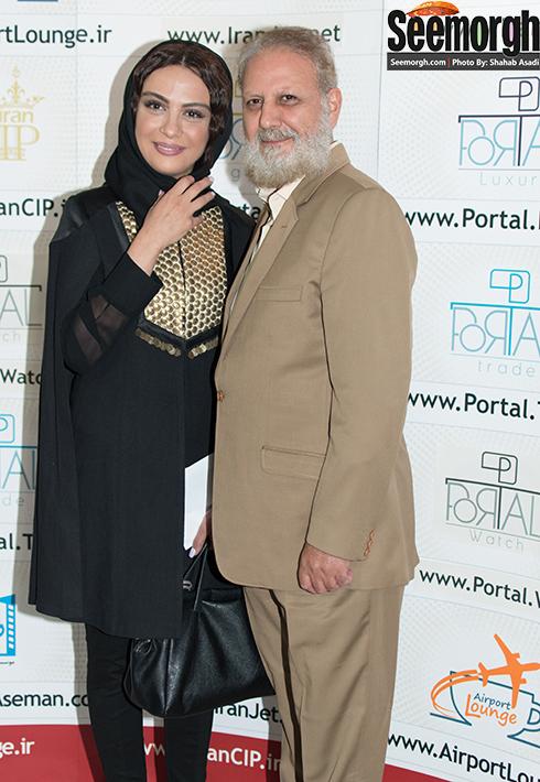 مارال فرجاد و پدرش جلیل فرجاد در اکران فیلم جاودانگی
