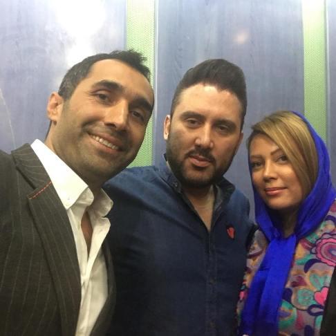 نیما مسیحا و همسرش در کنار هادی کاظمی