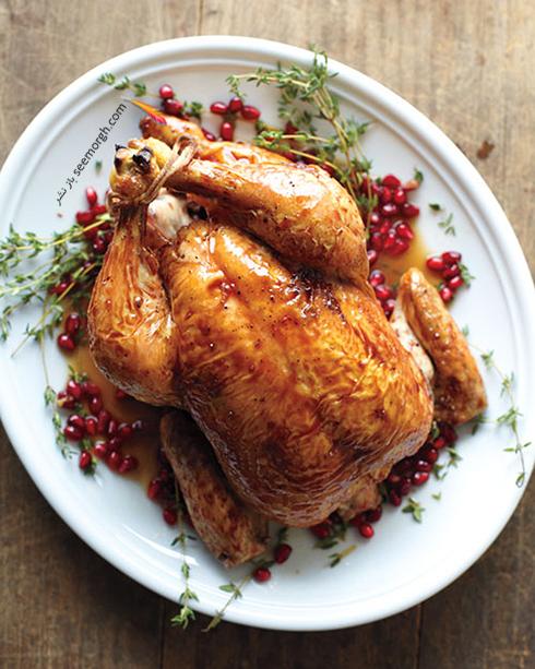 طرز تهیه مرغ بریان با سس انار برای شب یلدا