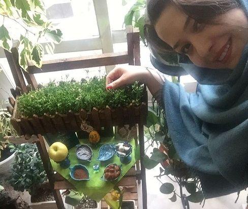 سبزه ای که مهراوه شریفی نیا برای عید درست کرده بود!
