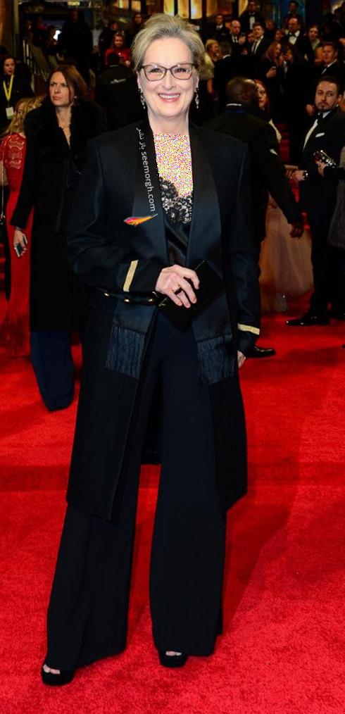 مدل لباس مریل استریپ Meryl Streep در بفتا 2017 Bafta