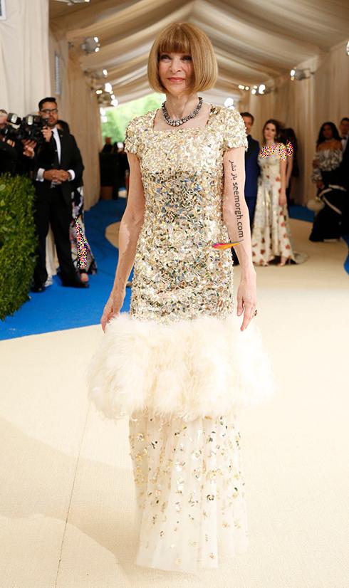 مدل لباس آنا وینتور Anna Wintour در مراسم مت گالا Met Gala 2017