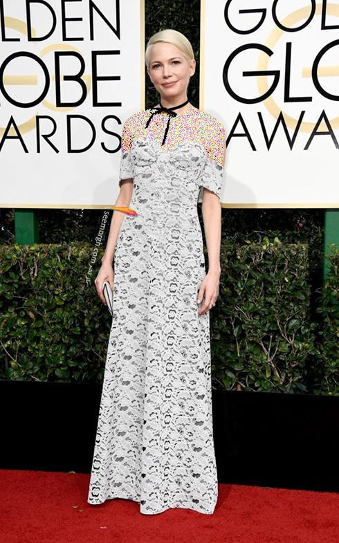 مدل لباس میشل ویلیامز Michelle Williams در مراسم گلدن گلوب 2017