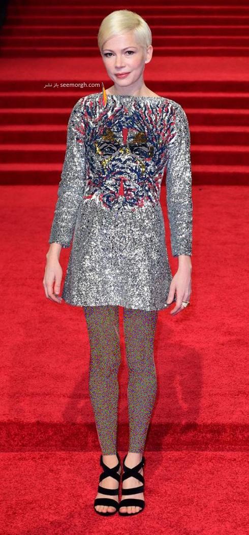 مدل لباس میشل ویلیامز Michelle Williams در بفتا 2017 Bafta