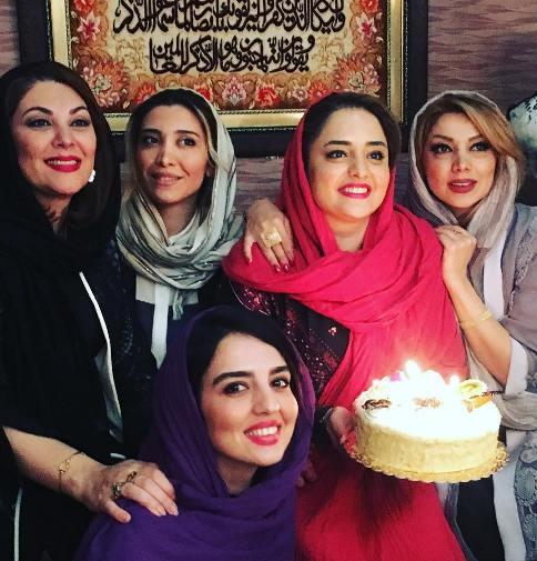 لاله اسکندری و نیکی مظفری در جشن تولد نرگس محمدی