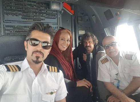 نسرین مقانلو کابین خلبان