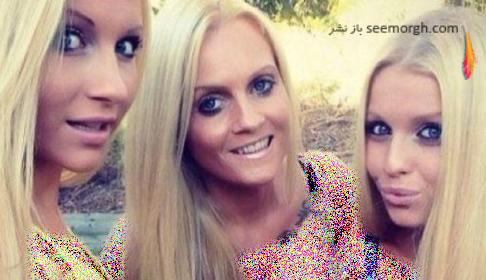ناتالی مادر 45 ساله در بین دخترانش