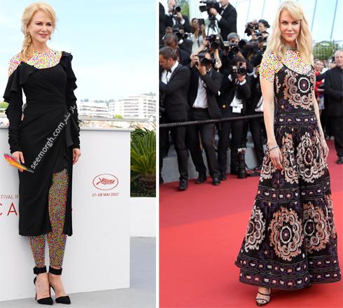 مدل لباس نیکول کیدمن Nicole Kidman در هفتمین روز جشنواره کن 2017 Cannes