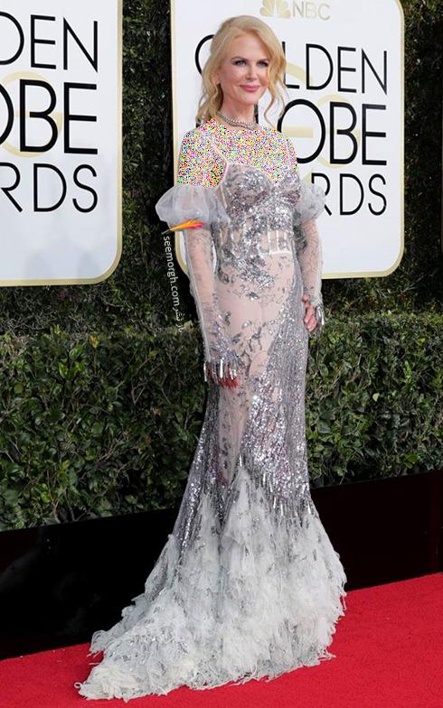 مدل لباس نیکول کیدمن Nicole Kidman در مراسم گلدن گلوب 2017